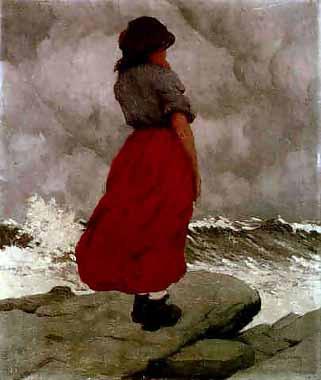 The Watcher by Irish artist Paul Henry